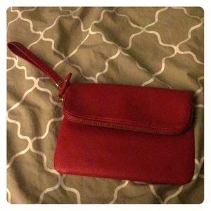 Talbots red clutch